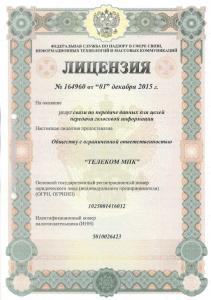 Лицензия 164960